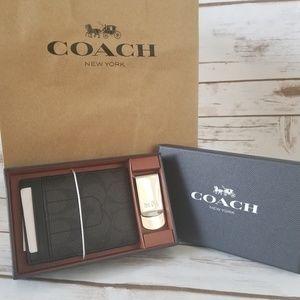 NIB | Coach 3-In-1 Card Case & Money Clip Set